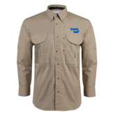 Khaki Long Sleeve Performance Fishing Shirt-Bendix