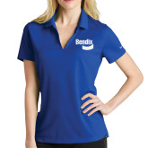 Ladies Nike Golf Dri Fit Royal Micro Pique Polo-Bendix