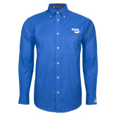 Mens Royal Oxford Long Sleeve Shirt-Bendix