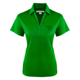 Ladies Kelly Green Performance Fine Jacquard Polo-Bendix