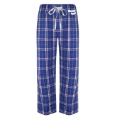 Royal/White Flannel Pajama Pant-Bendix