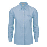 Ladies Light Blue Oxford Shirt-Bendix