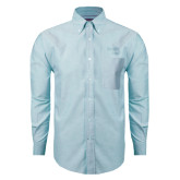 Mens Light Blue Oxford Long Sleeve Shirt-Bendix