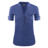 Ladies Ogio Indigo Blue Fashion Henley-Bendix