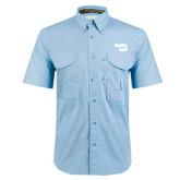 Light Blue Short Sleeve Performance Fishing Shirt-Bendix