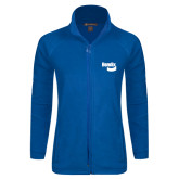 Ladies Fleece Full Zip Royal Jacket-Bendix
