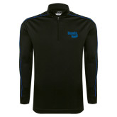 Nike Golf Dri Fit 1/2 Zip Black/Royal Cover Up-Bendix