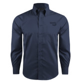 Red House Deep Blue Herringbone Long Sleeve Shirt-Bendix