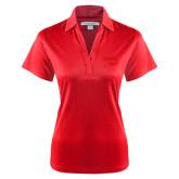 Ladies Red Performance Fine Jacquard Polo-Bendix