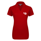 Ladies Red Dry Zone Grid Polo-Bendix