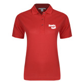 Ladies Easycare Red Pique Polo-Bendix