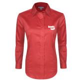 Ladies Red House Red Long Sleeve Shirt-Bendix