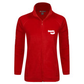 Ladies Fleece Full Zip Red Jacket-Bendix