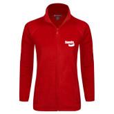 Ladies Fleece Full Zip Red Jacket-Bendix