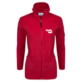 Columbia Ladies Full Zip Red Fleece Jacket-Bendix
