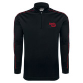 Nike Golf Dri Fit 1/2 Zip Black/Red Cover Up-Bendix