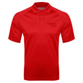 Red Textured Saddle Shoulder Polo-Bendix