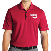Nike Golf Dri Fit Red Micro Pique Polo-Bendix