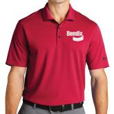 Nike Golf Dri Fit Red Micro Pique Polo-Bendix