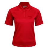 Ladies Red Textured Saddle Shoulder Polo-Bendix