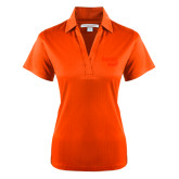 Ladies Orange Performance Fine Jacquard Polo-Bendix