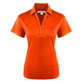 Ladies Orange Performance Fine Jacquard Polo-Bendix