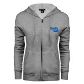 ENZA Ladies Grey Fleece Full Zip Hoodie-Bendix