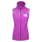 Columbia Ladies Full Zip Lilac Fleece Vest-Bendix
