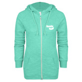 ENZA Ladies Seaglass Marled Full Zip Hoodie-Bendix