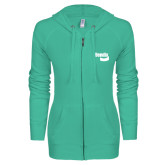 ENZA Ladies Seaglass Light Weight Fleece Full Zip Hoodie-Bendix