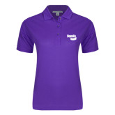Ladies Easycare Purple Pique Polo-Bendix