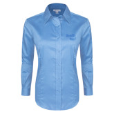 Ladies Red House Light Blue Long Sleeve Shirt-Bendix