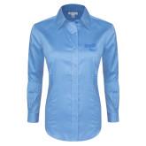 Ladies Red House Light Blue Long Sleeve Shirt-Bendix