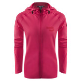 Ladies Tech Fleece Full Zip Hot Pink Hooded Jacket-Bendix