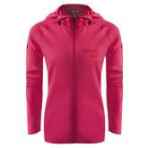 Ladies Tech Fleece Full Zip Hot Pink Hooded Jacket-Bendix