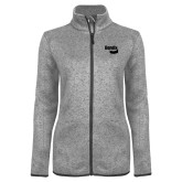 Grey Heather Ladies Fleece Jacket-Bendix