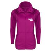 Ladies Sport Wick Stretch Full Zip Deep Berry Jacket-Bendix