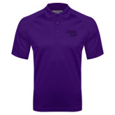 Purple Textured Saddle Shoulder Polo-Bendix