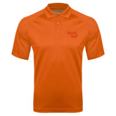 Orange Textured Saddle Shoulder Polo-Bendix