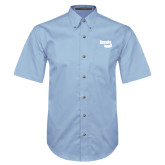 Light Blue Twill Button Down Short Sleeve-Bendix
