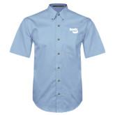 Light Blue Twill Button Down Short Sleeve-Bendix
