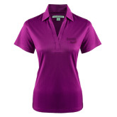 Ladies Purple Performance Fine Jacquard Polo-Bendix