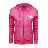 ENZA Ladies Fuchsia Fleece Full Zip Hoodie-Bendix