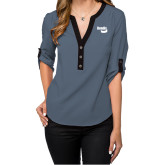 Ladies Posh Slate 3/4 Sleeve Blouse-Bendix