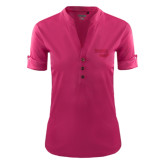 Ladies Ogio Deep Berry Fashion Henley-Bendix