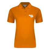 Ladies Easycare Orange Pique Polo-Bendix