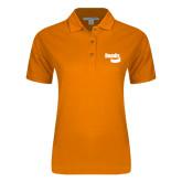Ladies Easycare Orange Pique Polo-Bendix