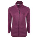 Dark Pink Heather Ladies Fleece Jacket-Bendix