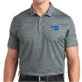 Nike Dri Fit Charcoal Crosshatch Polo-Bendix