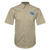 Khaki Twill Button Down Short Sleeve-Bendix